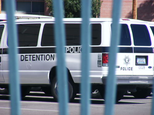 Inmate Transportation Van at the City of Las Vegas Jail