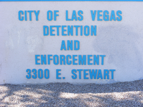 City of Las Vegas Jail - Front Sign
