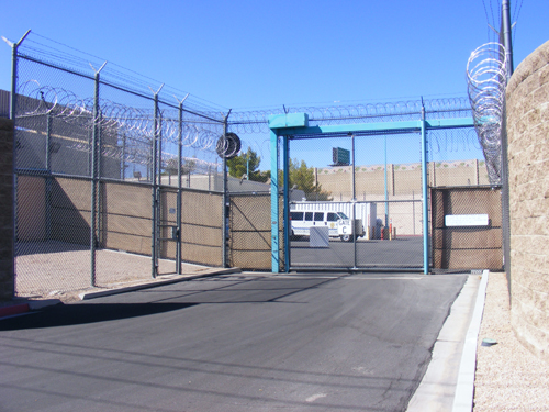 Entrance Gate C at the City of Las Vegas Jail